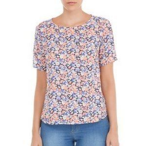 Poppy Lux Chiffon Floral Top